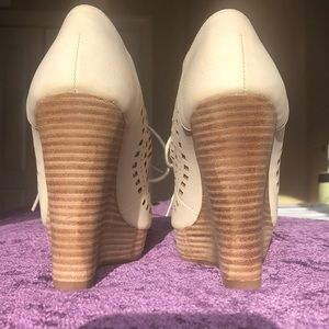 Restricted Shoes - Mindy, beige wedges from Restricted